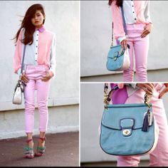 Color block outfit. Coach.