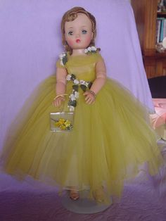 MADAME ALEXANDER VINTAGE HARD PLASTIC CISSY DOLL IN MINT LEMON YELLOW GOWN!     Dolls & Bears, Dolls, By Brand, Company, Character   eBay!