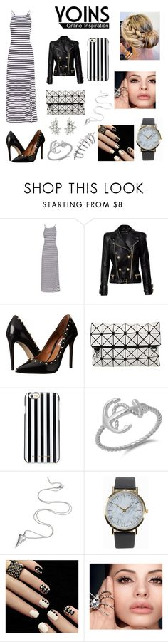 """""""Yoins"""" by j-k-mirsa ❤ liked on Polyvore featuring Balmain, Steve Madden, MICHAEL Michael Kors, NLY Accessories and yoins"""