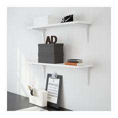 EKBY ÖSTEN / EKBY STÖDIS Wall shelf, white white 31 1/8x7 1/2