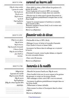 Carton Recette n°96/97/98 Caramel, Thing 1, Recipe Cards, Desserts, Recipes, Candy, Deserts, Dessert, Postres