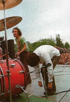 Northern California Folk Rock Festival - San Jose, CA. Jim learned to crouch by the base drum by van Morrison