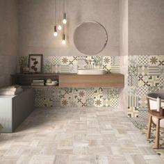 White Marble Bathrooms, Tiny Bathrooms, Vintage Bathrooms, Bathroom Design Luxury, Bath Design, Interior Design Living Room, Living Room Designs, Wall And Floor Tiles, Downstairs Bathroom