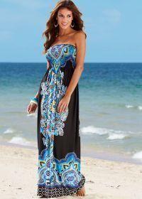 Black Multi Medallion Print Maxi Dress by Venus - Size M