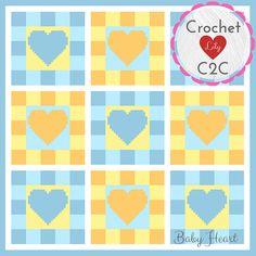 Blue Baby Boy Blanket - C2C Crochet Pattern Blanket - INSTANT DOWNLOAD - Crochet Graph - Crochet Pattern - Blanket - Corner to Corner - PDF