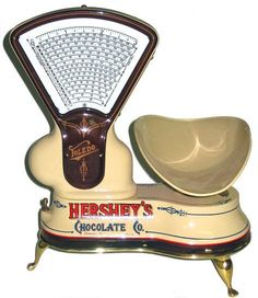 Vintage Hershey's chocolate scale.