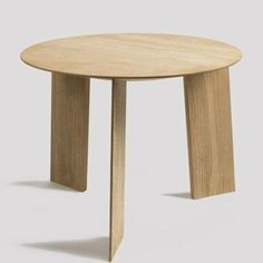 HAY Elephant Table Beistelltisch, natur Eiche Ø 50cm
