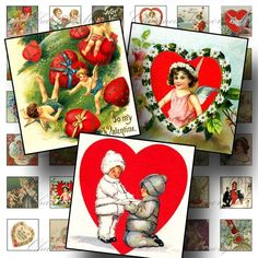 Victorian Valentines 1 Digital Collage by CharmedMemoryCollage