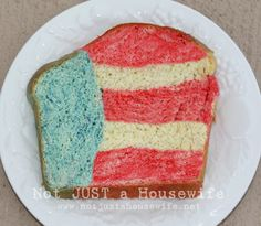 red white and blue bread