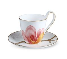 Flora High handle cup and saucer - Magnolia