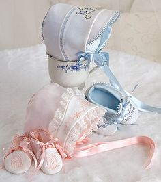 Jul/Aug 06 - Ultimate Baby Layette Bonnet and Booties, boy or girl Machine Embroidery Applique, Machine Embroidery Patterns, Sewing Patterns, Christening Outfit, Christening Gowns, Sewing Magazines, Angel Gowns, Gown Pattern, Baby Couture