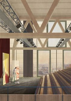 Sergison Bates has seen off 65 other bids to win the international contest to design a million performing arts quarter in Leuven, Belgium Theatre Architecture, Stairs Architecture, Cultural Architecture, Architecture Visualization, Architecture Drawings, Interior Architecture, The Wave, Henning Larsen, Atrium