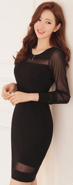 Modern See-through Mesh Dress. Vestidos Negros FormalesVestidos Cortos ... 77d11f6a0776