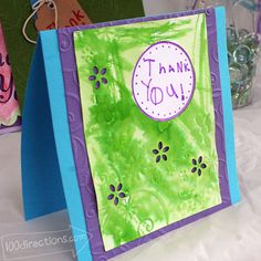 Easy card making with David Tutera paper crafts.... Pretty card made by my daughter