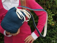 Un sac crochet / tissu, diy grame