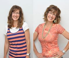 """T3 - Purpose Driven Motherhood: Becky's before and after """"Dressing Your Truth"""" hair makeover"""