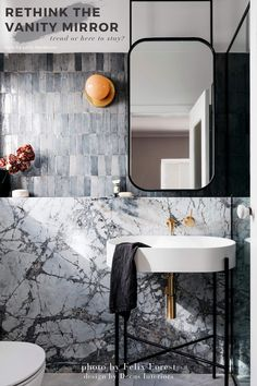 We are talking vanity mirror trend + a shoppable roundup.  #bathroomideas #modern #interiordesignideas #trendy