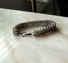 Stainless Steel Hex Nut Bracelet for men or women. Moonstone Jewelry & Design on Etsy.