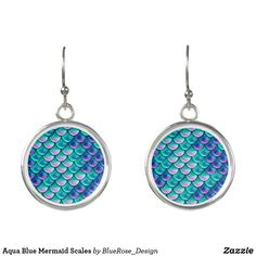 Aqua Blue Mermaid Scales Earrings Mermaid Scales, Christmas Card Holders, Aqua Blue, Colorful Backgrounds, Turquoise Necklace, Perfume, Drop Earrings, Unique, Silver