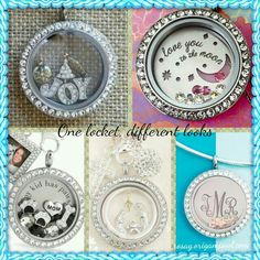 """Create various looks from just one Living Locket!  Contact me to help you design your looks!  Www.rosag.origamiowl.com """"Like"""" my facebook page, www.facebook.com/rosago2"""