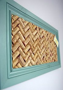 Do something with all of those corks you've been saving and turn them into this cool chevron cork board!