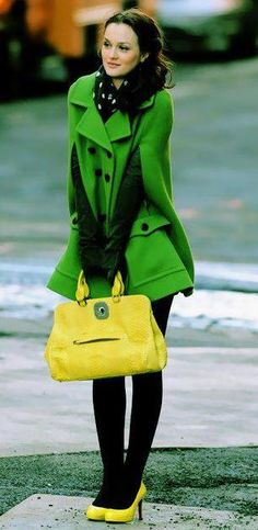 Blair Waldorf Style and Fashion Leighton Meester Vibrant colors