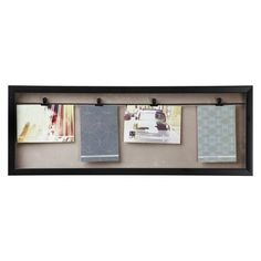 Show off your creative side with a clothesline collage photo frame.