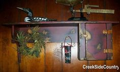 Primitive-Wood-Colonial-Dorechester-Shelf-with-Side-Cupboad-Very-Primitive