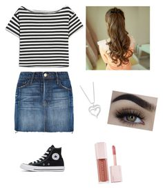 """""""casual denim look"""" by bailey-curtis on Polyvore featuring Frame, Converse and Puma"""