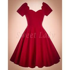 Milé červené bavlnené retro šaty