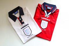 England 1997/1999 home/away football shirt by Umbro #england #threelions #vintage #vintagefootballshirt #footbalshirt #90s #soccerjersey #jersey #umbro Vintage Football Shirts, National Football Teams, Home And Away, Mens Xl, England, English, British, United Kingdom