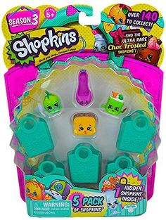 Shopkins Season 3 (5 Pack) Set 58 ** Click image for more details.