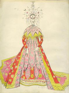 Cecil Beaton's costume designs for the 1960s Metropolitan Opera's production of Puccini's Turandot [½]