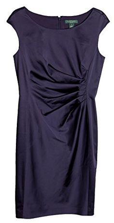 Lauren Ralph Lauren Cap-sleeve Satin Sheath Dress (12P)