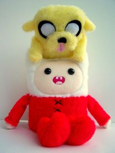 Adventure Time Finn and Jake Plush Inspired Stuffed by Plushimi on We Heart It. http://weheartit.com/entry/26059837