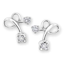 'Love Berries Collection' 18K White Gold Diamond Earrings
