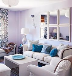 Love this color scheme! Pretty living room