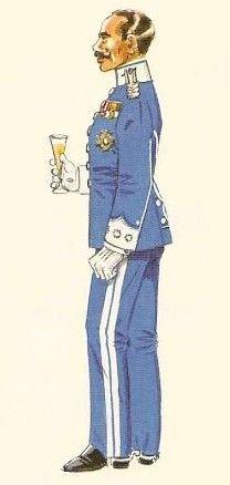 Cazadores de Tetuan nº 17 1909-22 Coronel uniforme para actos sociales