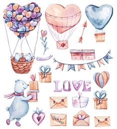 18 watercolor cliparts, 3 seam day illustration This item is unavailable Valentines Day Clipart, Love Valentines, Printable Stickers, Planner Stickers, Valentines Watercolor, Drawing Quotes, Clip Art, Cute Illustration, Wedding Illustration