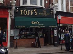 Toffs - Muswell Hill. Best Fish and Chips in North London for sure.