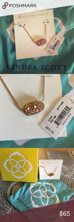 Kendra Scott Elisa Necklace in Rose Gold New with tags. It was a gift, I just prefer silver but don't have a receipt. Kendra Scott Accessories