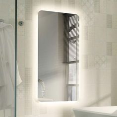 Awesome mirror lights lighting pinterest bathroom mirrors hib ambience 120 led ambient mirror 79300000 mozeypictures Image collections