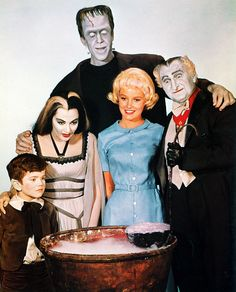 Los Monstruos (The Munsters): foto familiar 1964