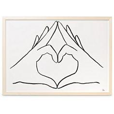 A2 Heart Hands Natural Ash Wall Art