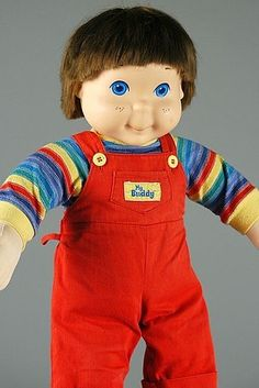My Buddy doll, 1985 My Buddy. My Buddy. My Buddy and me like to climb up a tree. My Buddy and meeeee. 1980s Kids, My Buddy, Kids Growing Up, Childhood Days, Retro Toys, 1970s Toys, Creepy Dolls, Little Doll, Infancy