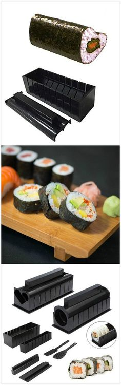 I actually own this one. Works as advertised. ::: Sushi Making Kit.DIY Rice Roller Mold Kitchen Cooking Tools .Use the coupon code :Happyday11,get 8% off now ! #kitchen