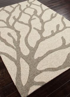 White and Silver Grey Coral Area Rug from the #Coastal Living Collection!