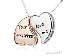 Partnerketten Herzen Your Love completes me aus 925...