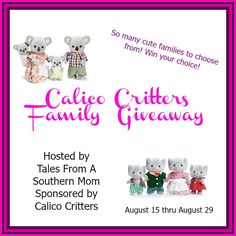 Calico Critters Family Giveaway - Joyful Gifts by Julie ends 8/29