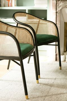 Discover our pieces of furniture lighting and accessories, designed to be mobile, timeless and elegant. Inspired by you, for you. Cane Furniture, Rattan Furniture, Rattan Dining Chairs, Living Room Chairs, Interior Decorating, Interior Design, Armchair, Sweet Home, Socialite Family
